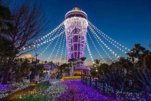 第一位に輝いた江の島灯台(通称:江の島シーキャンドル)